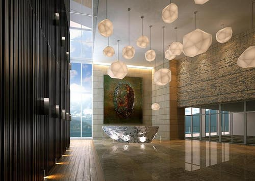 Blick in die Lobby. (Bild: Visualisierung PD)