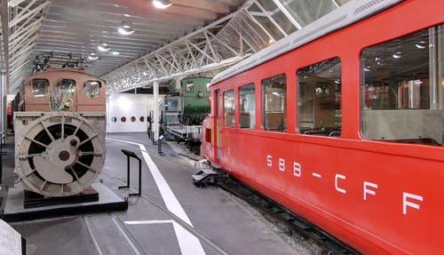 Halle Schienenverkehr im Verkehrshaus in Luzern. (Bild: Google Street View)