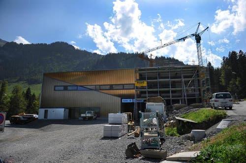 Talstation auf der Stöckalp am 22. August (Bild: Corinne Glanzmann / Neue NZ)
