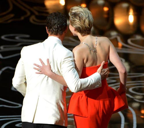 Matthew McConaughey (links) und Jennifer Lawrence. (Bild: Keystone)