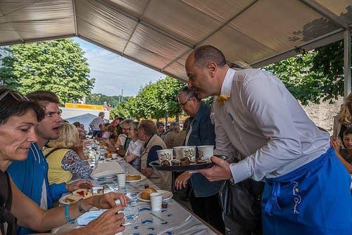 Viel Volk beim Bäckerzmorgen. (Bild: pd)
