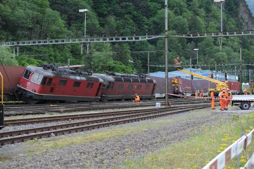 Hier hat sich das Unglück ereignet: Bahnhof Erstfeld. (Bild: Urs Hanhart (Neue UZ))
