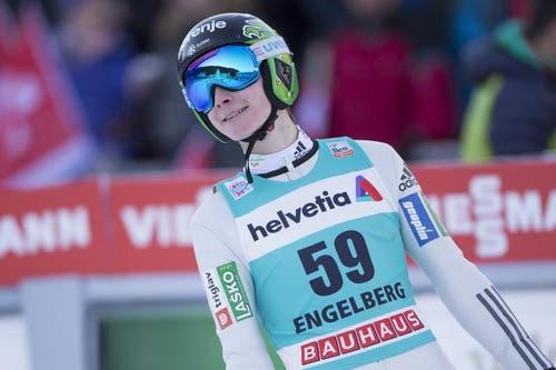 Auch am Sonntag nimmt der Slowene Domen Prevc am Wettkampf teil. (Bild: Keystone / Urs Flüeler)