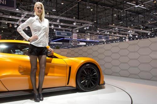 Der ST1 des dänischen Herstellers Zenvo ist kein Schnäppchen: Über eine Million Franken soll der Sportwagen 1104 PS kosten. (Bild: Keystone)