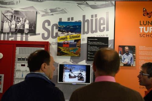 In der Talstation konnte eine Ausstellung über die Geschichte der Seilbahn begutachtet werden. (Bild: Nadia Schärli (Neue OZ))