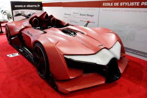 Das Batmobil in Rot: Der Concept Car Sbarro Fleche Rouge. (Bild: Keystone)