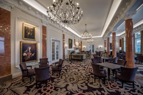 5.3.2017: Erster Einblick in das Hotel Palace auf dem Bürgenstock, ein normales Zimmer. (Bild: Pius Amrein)