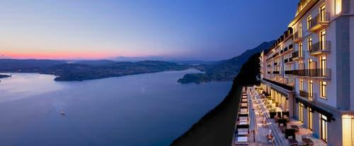 Hotel Palace mit Terrasse. (Bild: PD)