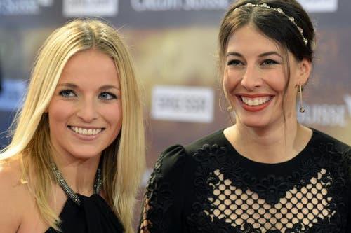Die Skirennfahrerinnen Lara Gut (links) und Dominique Gisin. (Bild: Keystone)