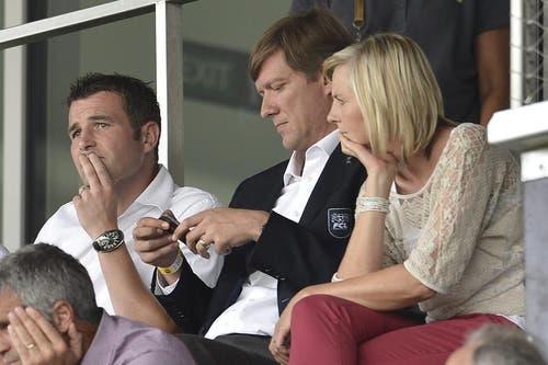 Luzerns Sportchef Alex Frei, links, neben Präsident Mike Hauser. (Bild: Keystone)