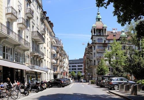 Die Frankenstrasse heute. (Bild: pd / Visualisierung)