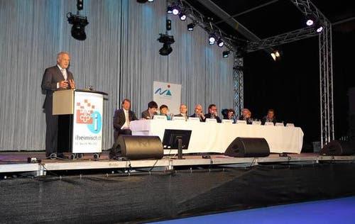 Bundesrat Johann Schneider-Ammann bei seiner Begrüssungsrede zur Eröffnung. (Bild: André A. Niederberger / Neue NZ)