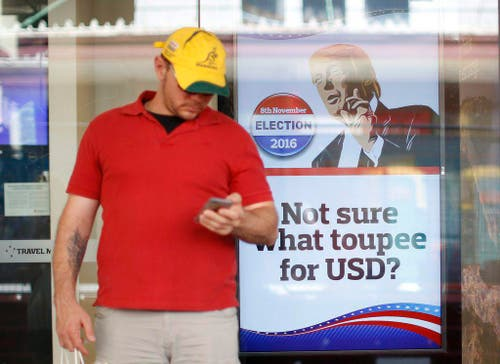 Exhcnage rate slogans ahead of US presidential elections (Bild: Keystone)