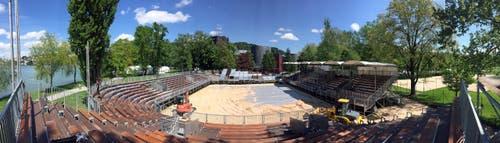 Panorama-Ansicht auf das Stadion. (Bild: René Meier)