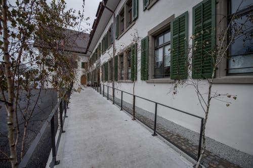 Die neue Aussenfassade des Klosters. (Bild: Pius Amrein)