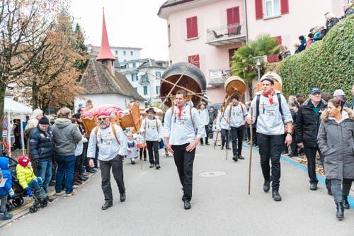 An der Weggiser Sennenchilbi gibts allerhand Traditionelles zu sehen. (Bild: Roger Grütter (LZ))