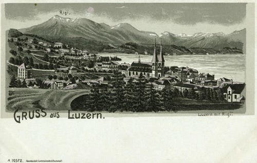 Luzern mit Rigi, undatiert. (Bild: PD)