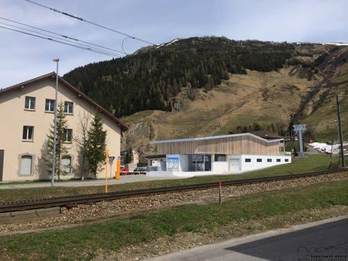 Talstation Andermatt (Bild: Visualisierung PD)