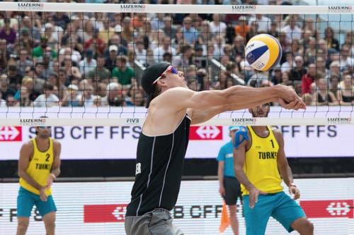 Spiel um Platz drei mit dem Schweizer Alexei Strasser gegen die Türkei. (Bild: Pius Amrein / Neue LZ)