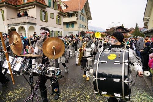 Die Herischrenzer Herisau waren zu Gast. (Bild: Romano Cuonz (Giswil, 11. Februar 2018))