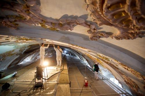 Vor der Innensanierung waren 2015 bereits die Aussenfassaden und das Dach gereinigt und saniert worden. (Bild: Philipp Schmidli)
