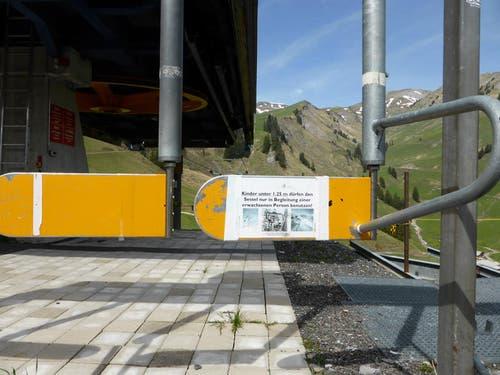 Auf der Zwischenstation Turren: die stillgelegte Sesselbahn nach Schönbüel. (Bild: Markus von Rotz / Neue OZ)