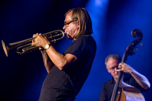 Peter Schärli, links, und Thomas Duerst. (Bild: Marcel Meier / Jazz Festival Willisau)