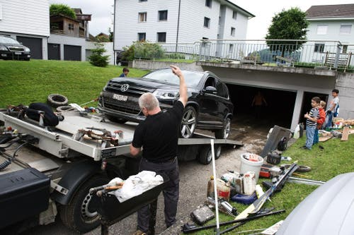 Unwetterschäden in Udligenswil (Bild: Corinne Glanzmann)