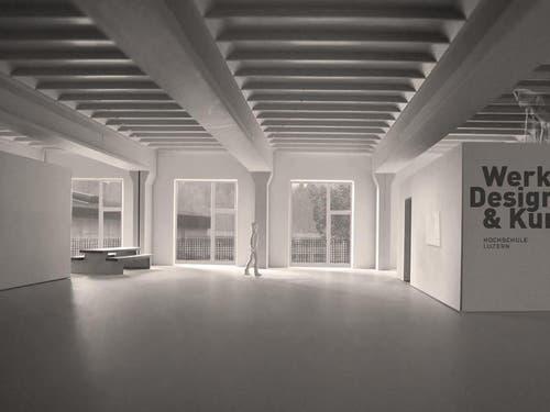 """Die Hochschule bezieht als Mieterin für 20 Jahre ein fünfstöckiges Gebäude mit Namen """"Bau 745"""". (Bild: PD)"""
