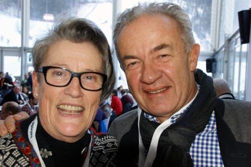 Elisabeth Gander, ehemalige Regierungsrätin des Kantons Obwalden und Jörg Lienert, Unternehmensberater aus Luzern. (Bild: Primus Camenzind / Neue OZ)