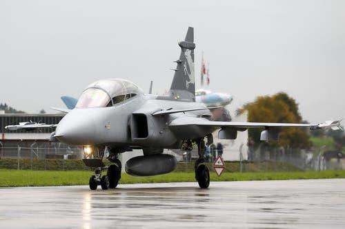 Der Gripen wird am 12. Oktober in Emmen den Medien vorgestellt. (Bild: Keystone)