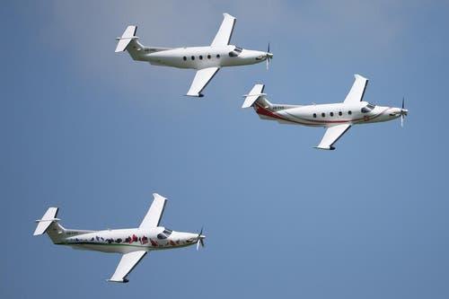 PC-12, ein einmotoriges Turboprop-Mehrzweckflugzeug von Pilatus. (Bild: Philipp Schmidli)