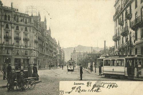 Pilatusstrasse, 1904 (Bild: PD)