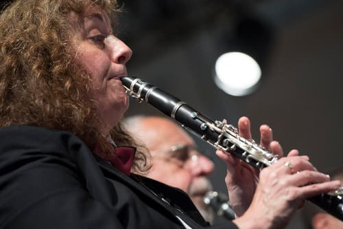 Musiker der Musikgesellschaft Schnottwil. (Bild: LAURENT GILLIERON)