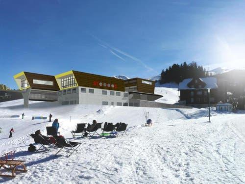 Visualisierung der Bergstation der neuen Stoosbahn. (Bild: PD)
