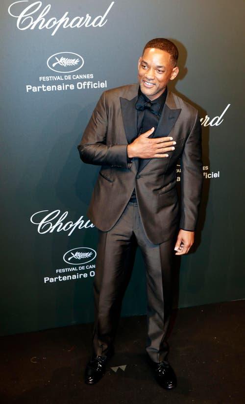 Will Smith lässt sich das Filmfestival auch nicht entgehen. (Bild: EPA/Sebastian Nogier)