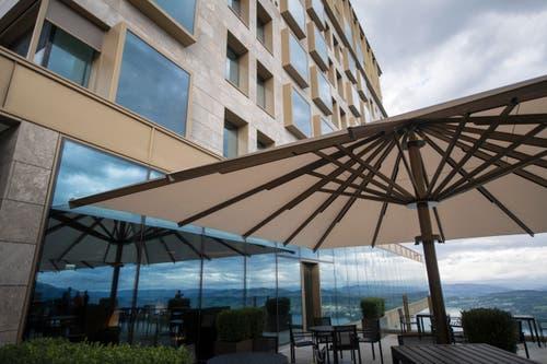 Lounge des Bürgenstock-Hotels. (Bild: Urs Flüeler / Keystone)