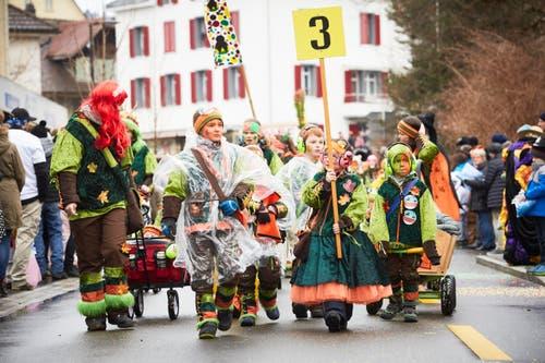 Familienguuggenmusig Sumpflüüs Schüpfhe. (Bild: Jakob Ineichen / LZ (Schüpfheim, 11. Februar 2018))