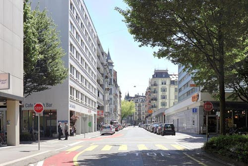 Die Winkelriedstrasse heute. (Bild: pd / Visualisierung)