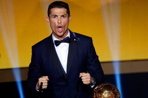 Cristiano Ronaldo ist Weltfussballer des Jahres (12. Januar). (Bild: Keystone / Walter Bieri)