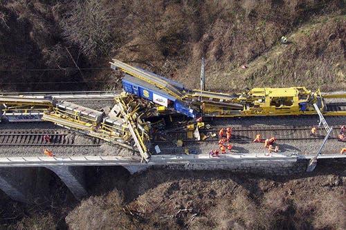 Die Unfallstelle aus der Luft. (Bild: Helinews.ch)