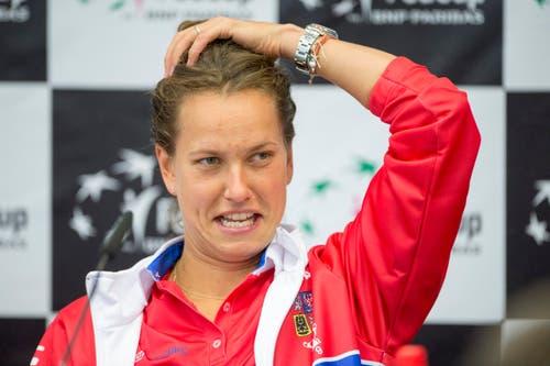 ... und Barbora Strycova (30, WTA 32) sind für Tschechien, das den Fedcup in den letzten beiden Jahren und viermal seit 2011 gewann, zwei Topspielerinnen in Luzern am Start. (Bild: Keystone / Urs Flüeler)