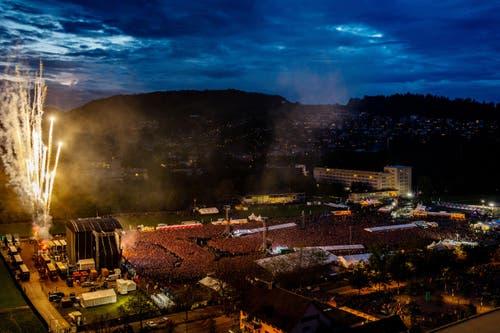 Rammstein am Samstag. (Bild: Philipp Schmidli)