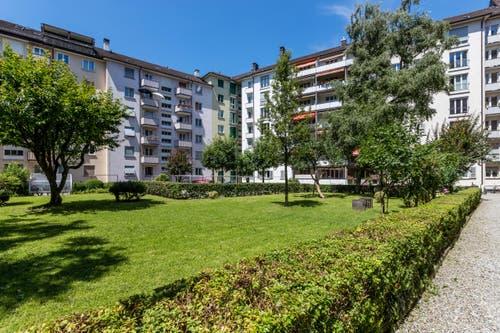Innenhof an der Bireggstrasse, Ulmenstrasse, Ahornstrasse, Birkenstrasse. (Bild: Philipp Schmidli)