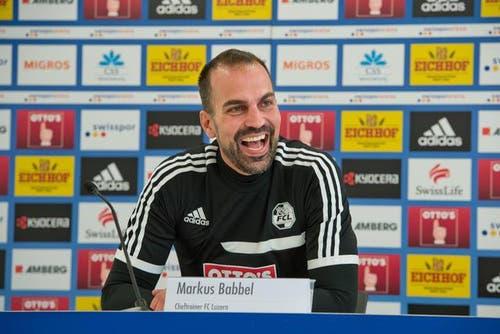 13. Oktober: Markus Babbel wird neuer Trainer des FC Luzern. (Bild: Dominik Wunderli / Neue LZ)