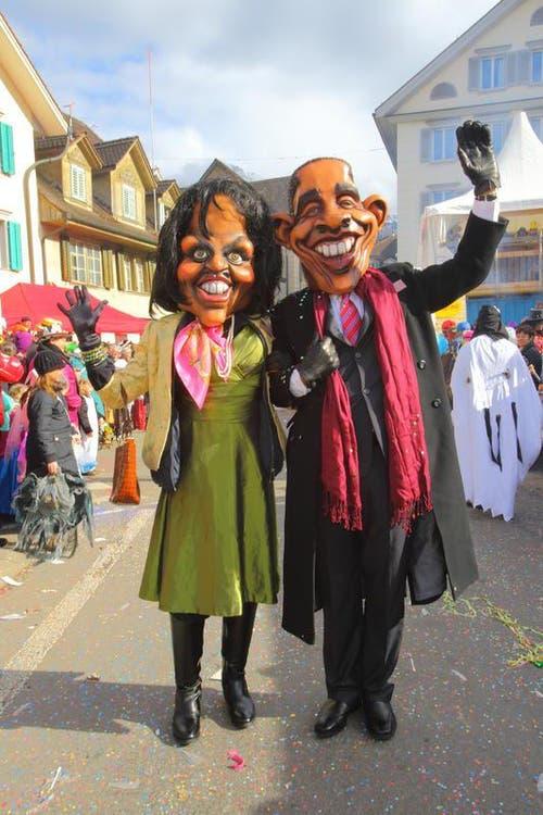Ehepaar Obama zu Gast in Stans. (Bild: André A. Niederberger / Neue NZ)