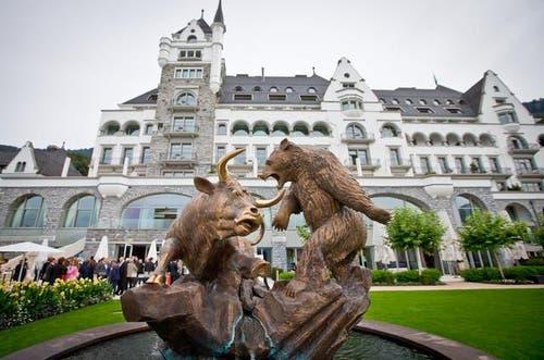25. August 2014: Das Parkhotel Vitznau wird von Gault Millau zum Hotel des Jahres gewählt. (Bild: Philipp Schmidli / Neue LZ)