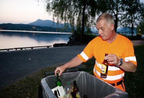 Albert Kreienbühl beim Inseli. (Bild: Corinne Glanzmann / Neue LZ)