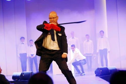 Messeleiter Peter Binggeli bei der Eröffnungsfeier. (Bild: Werner Schelbert / Neue ZZ)