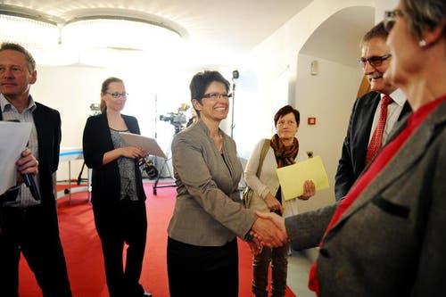 Die bisherige FDP-Fraktionschefin und Kommunikations-Unternehmerin Maya Büchi (51) aus Sachseln tritt die Nachfolge... (Bild: Corinne Glanzmann / Neue OZ)